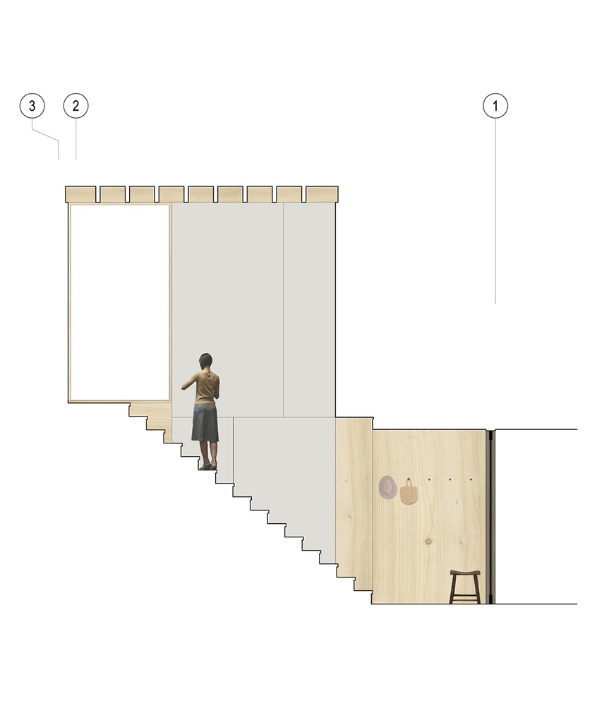 Little House,Stair Drawing