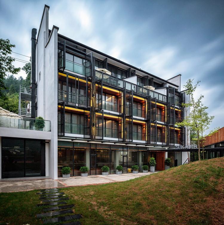Hotel SIXX / MODULO architects, Perspectiva da fachada do hotel. Imagem © Haibo Wang