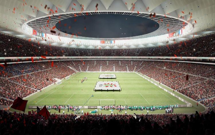 Cruz y Ortiz Arquitectos Reveal Stadium Design for Morocco 2026 FIFA World Cup Bid, © Cruz y Ortiz Arquitectos