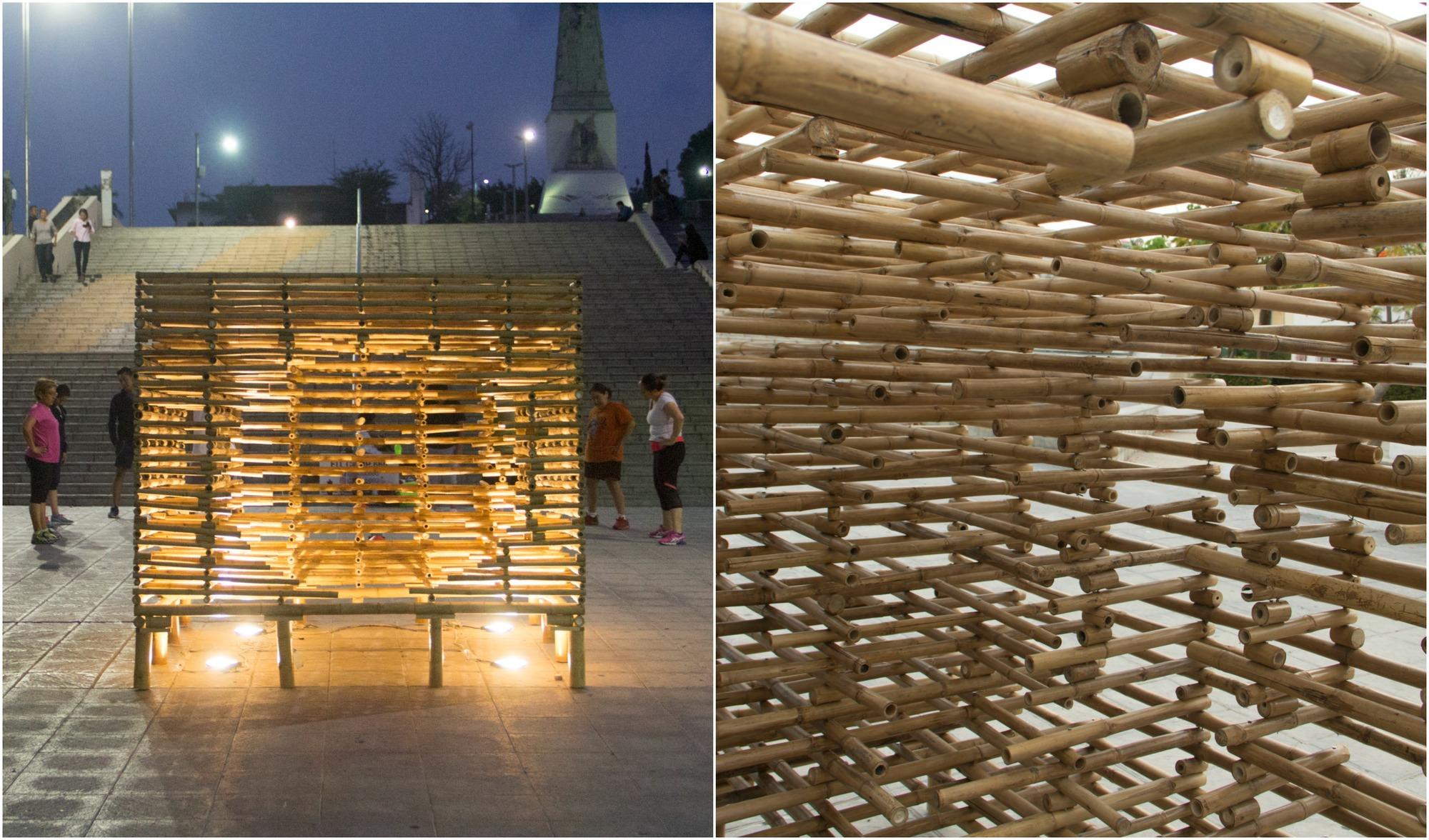 Se construye propuesta ganadora del 'Concurso para la Intervención del Espacio Urbano' por Festival Provincia
