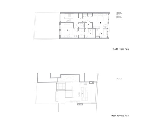 Fourth and Roof Terrace Plan