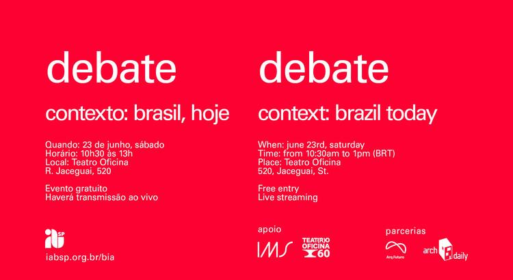 "IABsp promove o debate ""Contexto: Brasil, hoje"""