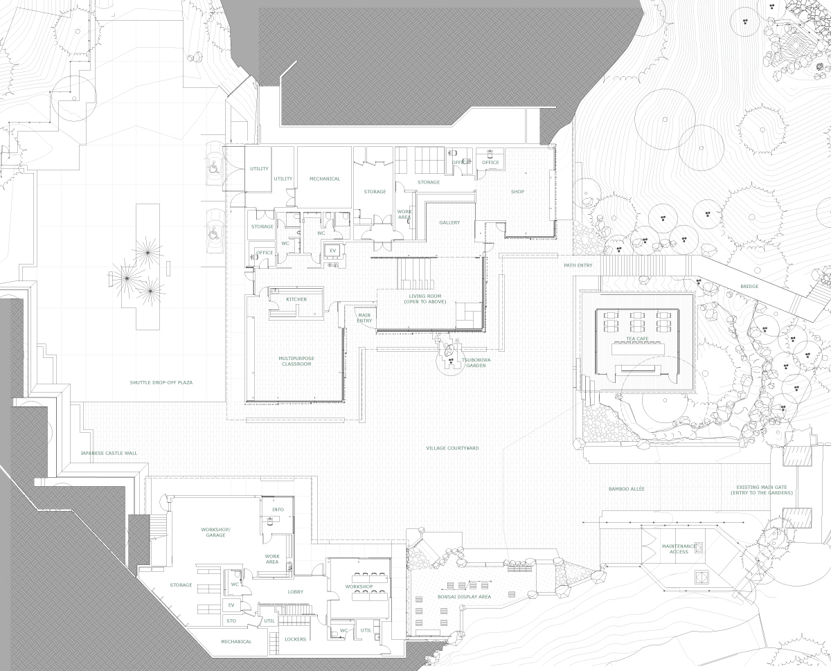 Gallery Of Portland Japanese Garden Cultural Village Kengo Kuma Schematic Zoom Image View Original Size