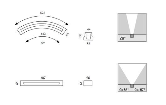 Inground Walk-Over Lights - Miniround / Minilinear | SIMES. Image Courtesy of SIMES