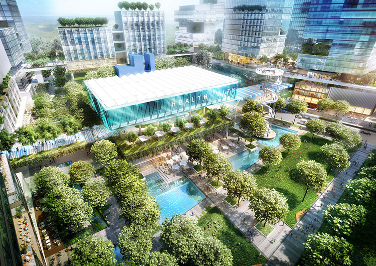 "Broadway Malyan projetará uma ""cidade da saúde"" em Brisbane, Austrália, Cortesia de Broadway Malyan"