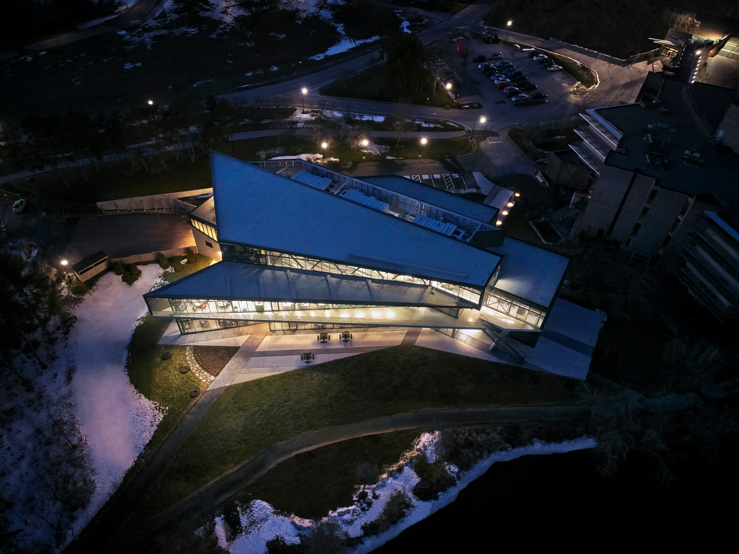 trent university student center teeple architects archdaily
