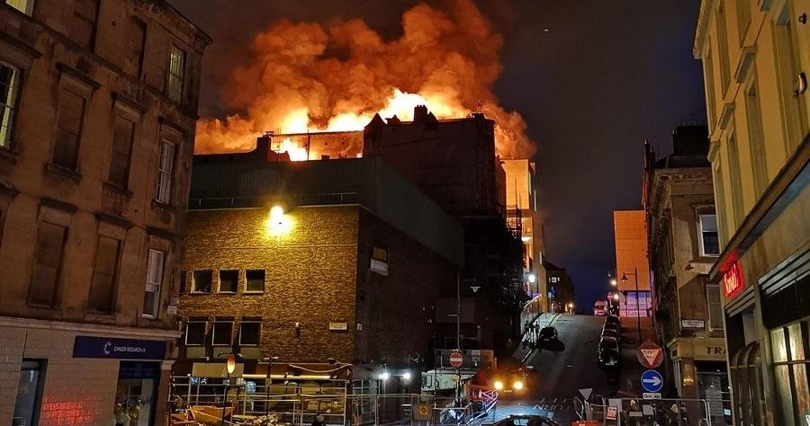 Charles Rennie Mackintosh's Glasgow School of Art Is Burning Again