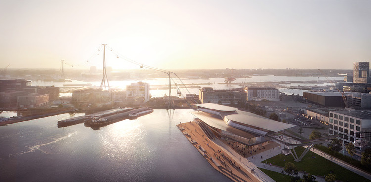 UNStudio projeta teleférico sustentável em Amsterdã, Cortesia de Plompmozes