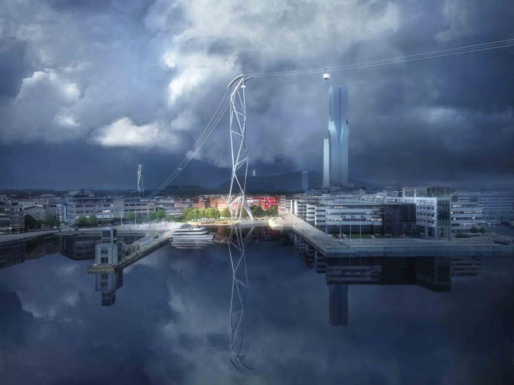 UNStudio diseña IJbaan, el primer teleférico de Amsterdam, Cortesía de Plompmozes