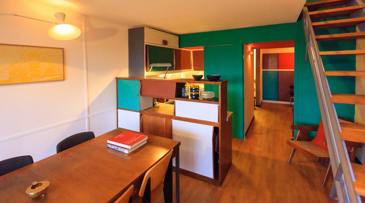 Apartment in Le Corbusier's Unité d'Habitation Renovated to Original Design by Philipp Mohr, © Didier Gaillard- Hohlweg