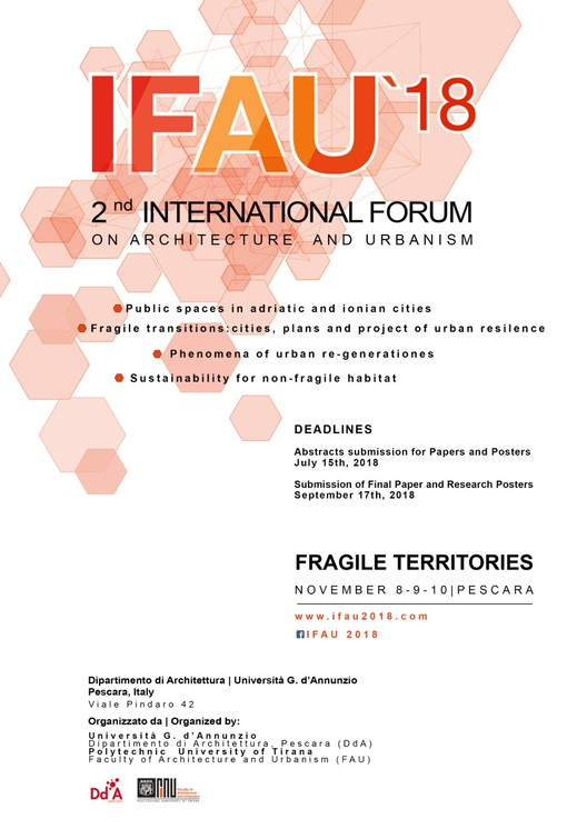 Call for Papers:  FRAGILE TERRITORIES / Landscapes_Cities_Architecture, POSTCARD IFAU2018