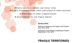 Call for Papers:  FRAGILE TERRITORIES / Landscapes_Cities_Architecture