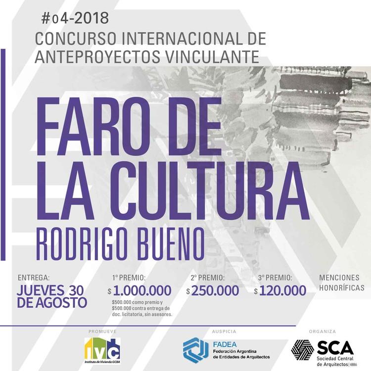 Concurso Internacional Faro de la Cultura, Barrio Rodrigo Bueno / Argentina, Cortesía de Sociedad Central de Arquitectos
