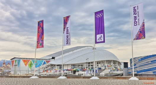 Fisht Olympic Stadium, Sochi by Populous. Image © 2014 XXII Winter Olympic Games