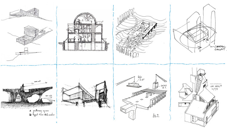 100 croquis y bocetos de arquitectura