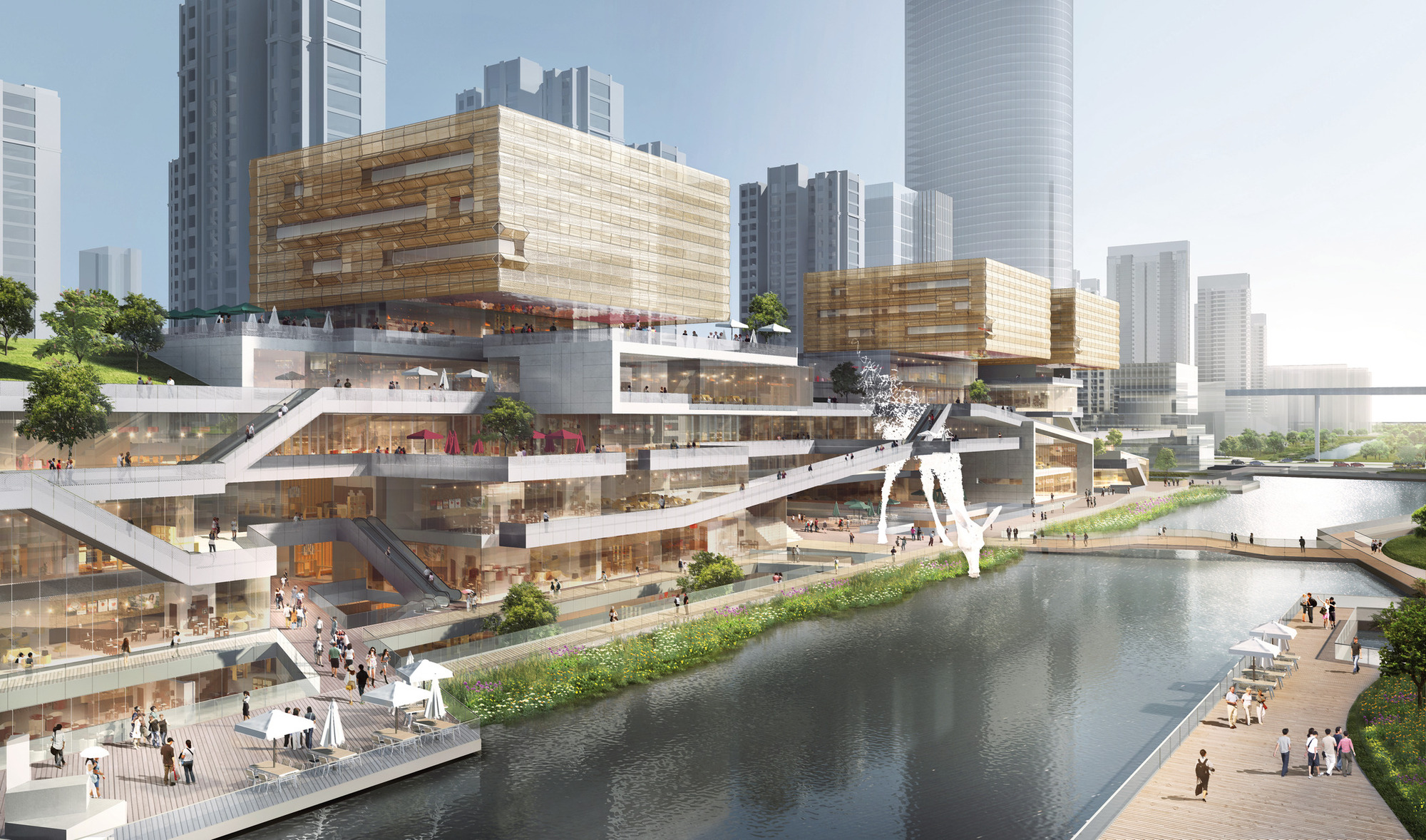Benoy Releases Images of New Waterfront Development in Wenzhou, China