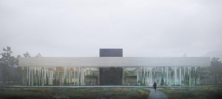 """O corpo e cérebro das cidades do futuro"": Snøhetta projeta data center sustentável, Cortesia de Snøhetta/Plompmozes"