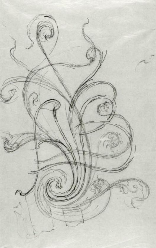Art Nouveau Architecture Sketch