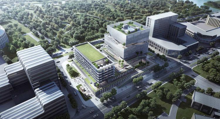 EID Architecture revela imagens do Lingang ZKJI Center em Xangai na China, Cortesia de EID Architecture