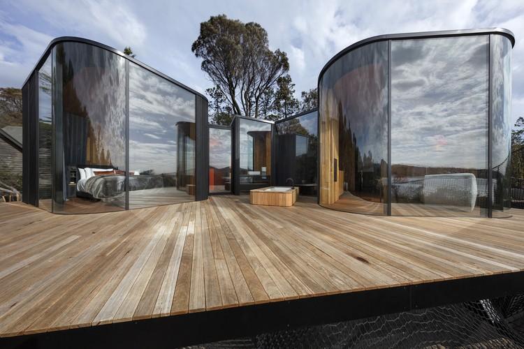 Freycinet Lodge Coastal Pavilions By Liminal Architecture. Image credit: Dianna Snape
