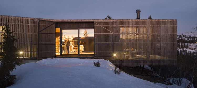 Cabin Kvitfjell By Lund Hagem Architects. Image credit: Marc Goodwin