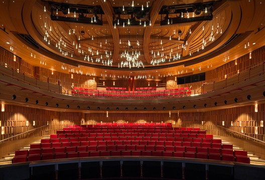 Royal Academy of Music Theatre and Recital Hall By Ian Ritchie Architects. Image credit: Adam Scott