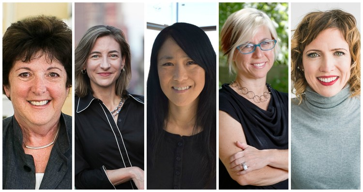 Call for Entries: Infrastructures, the 2018 James Harrison Steedman Fellowship in Architecture, Jury chair Andrea P. Leers (left) with jurors Marion Weiss, Lisa Iwamoto, Linda C. Samuels and Anna B.F. Ives.