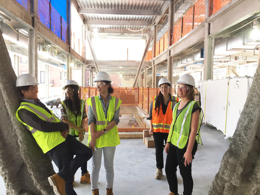 Members of the design team on a site visit at Barnard. Image Courtesy of Lulu Li