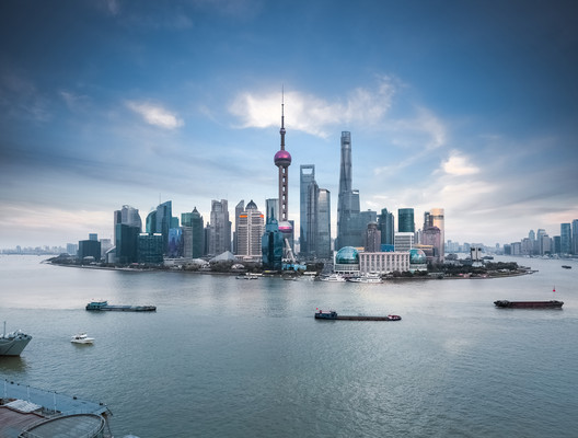 The skyline of Pudong, Shanghai, seen in 2016. Photo © Chung King