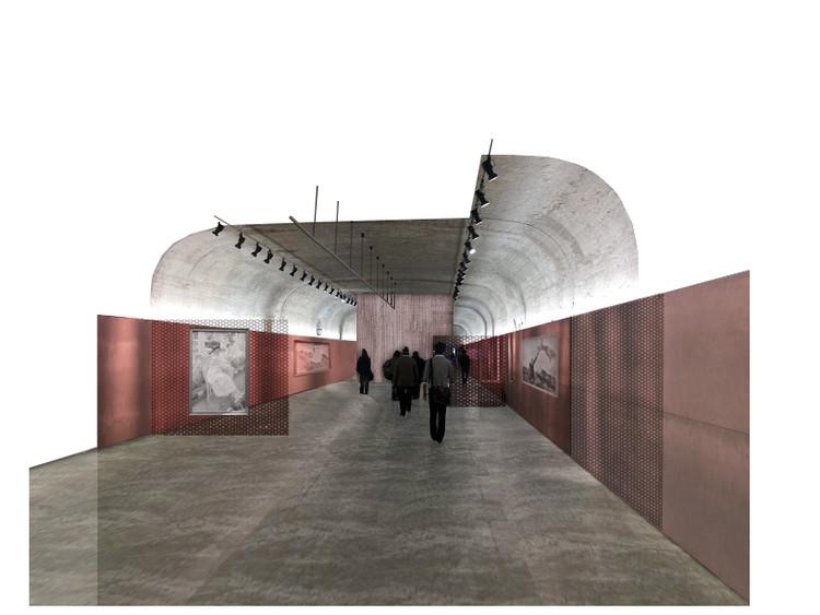 AGi architects, segundo lugar en concurso del Centro de Arte de las Arquerías de Nuevos Ministerios, Sala Zuazo. Image Cortesía de AGi Architects