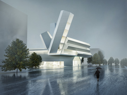 Courtesy of Steven  Holl  Architects  /  Malcolm  Reading  Consultants