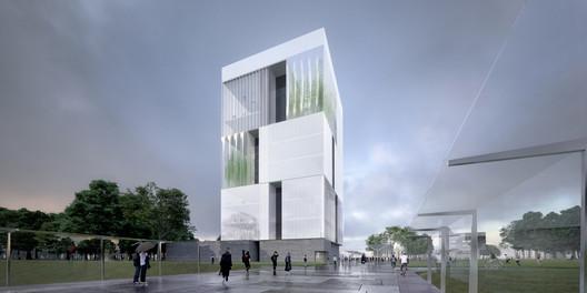 Courtesy of John  Ronan  Architects  /  Malcolm  Reading  Consultants