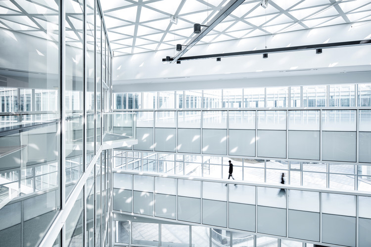 Shanghai Baoye Center Interior / LYCS Architecture, Entrance Lobby. Image © Lian He