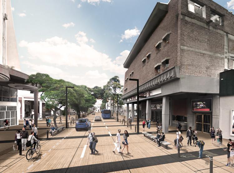 EMS Arquitectura + Pantoja Arquitectos diseñarán remodelación de la avenida Sexta de Cali, Colombia, Cortesía de Equipo Primer Lugar