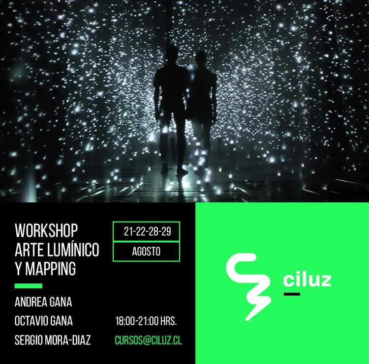 """Workshop de Arte Lumínico y Mapping, Foto: Obra """"Void"""" de Sergio Mora-Diaz"""