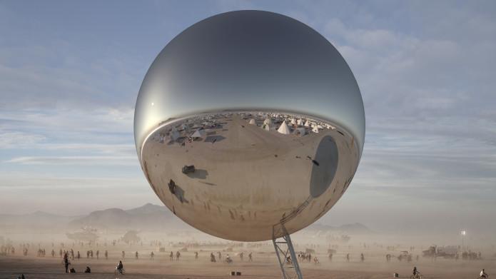 Bjarke Ingels e Jakob Lange lançam financiamento coletivo para uma esfera gigante reflexiva no Burning Man 2018, Cortesia de Bjarke Ingels and Jakob Lange