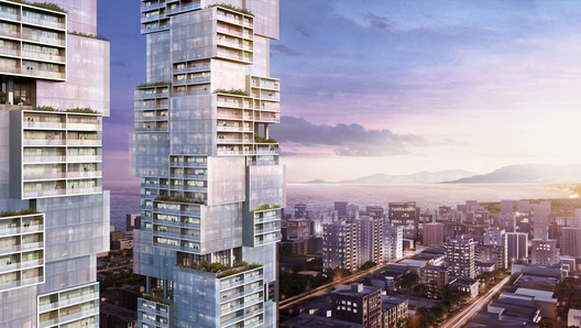 Ole Scheeren Unveils Design for High Rise 'Barclay Village' Project in Vancouver