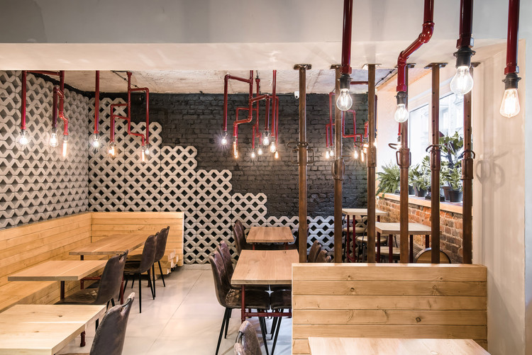 Rusztowanie mode lina architekci archdaily m xico for Diseno de interiores cafeterias pequenas