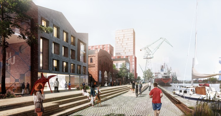 Henning Larsen Release Images of Revitalized Shipyard District in Gdansk, Poland, Courtesy of Henning Larsen