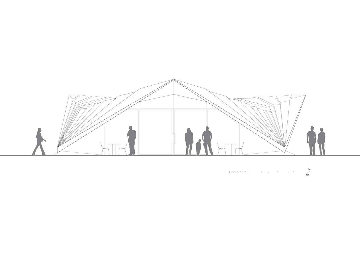 Portsoken PavilionElevation  sc 1 st  ArchDaily & Gallery of Portsoken Pavilion / Make Architects - 18