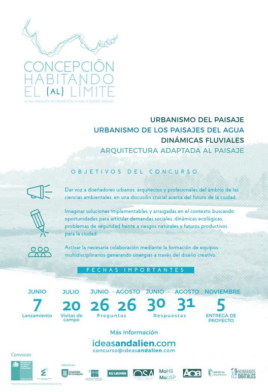 Concepción: Habitando el (al) límite, Poster Oficial. Comité organizador FONDART ANDALIEN 2018.