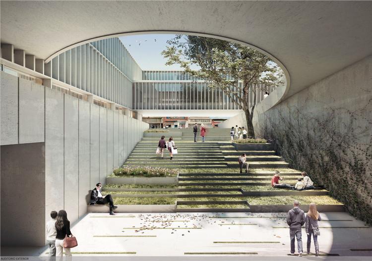 Arquitectura en Estudio + NOMENA Arquitectura, segundo lugar en el diseño de la alcaldía de Santa Fe en Colombia, Auditorio. Image Cortesía de Equipo Segundo Lugar