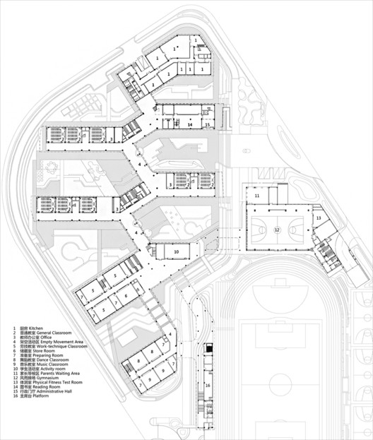 School Architecture 70 Examples In Plan And Section