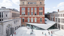 Porcelain Tiles Add a Sleek Modern Accent to AL_A's Courtyard Expansion at London's V&A Museum