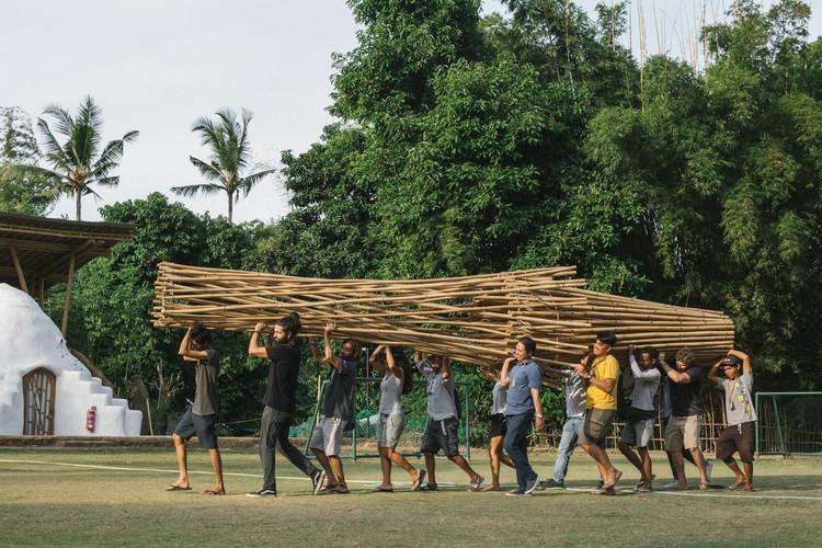 Esta yurta retráctil de bambú puede ser fácilmente transportada e instalada, © Tommaso Riva