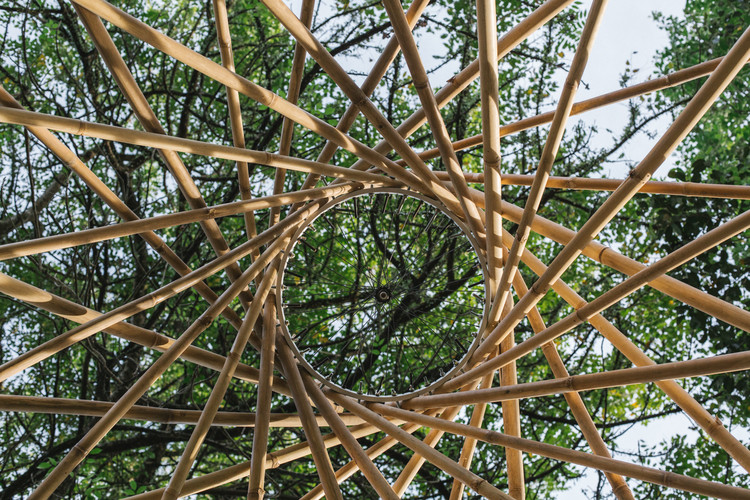This Retractable Bamboo Yurt Can Be Easily Transported And Installed Archdaily Our very own grand design of 2017. this retractable bamboo yurt can be