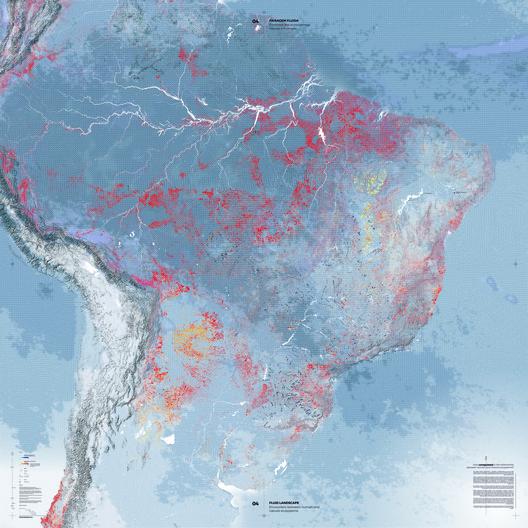 Paisagem Fluida. Encontro dos ecossistemas natural e humano. Quão desregulada é a relação entre os ecossistemas humano e natural?. Image Cortesia de Pavilhão do Brasil na Bienal de Veneza 2018