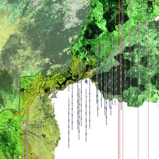 O Mapa não é o Território. O redesenho da fronteira. Quão desimpedido é o acesso à fronteira brasileira? . Image Cortesia de Pavilhão do Brasil na Bienal de Veneza 2018