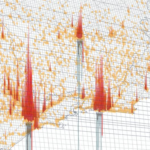 Geografia dos Investimentos Imobiliários. Discordâncias entre as agendas do capital e da arquitetura. Quão desobstruída é a agenda do Mercado Imobiliário em relação àquela da Arquitetura?. Image Cortesia de Pavilhão do Brasil na Bienal de Veneza 2018
