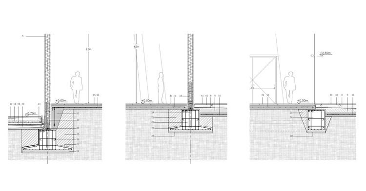 20 Detalles constructivos de fundaciones, Museo Internacional del Barroco / Toyo Ito. Imagen